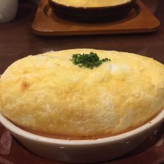 スフレ卵のオムライス(卵と私  ホワイティ梅田店 )