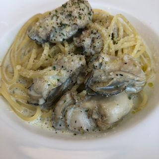 牡蠣と青のりのクリームパスタ(オイッティ マルシャン)