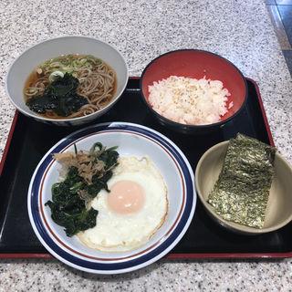 選べるミニ丼定食(中華風目玉焼き)(名代 富士そば 小平店)