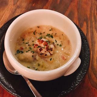 軽く炙った牡蠣 白子 豆乳のチャウダー(CHICAMA CAFE (チカマ カフェ))