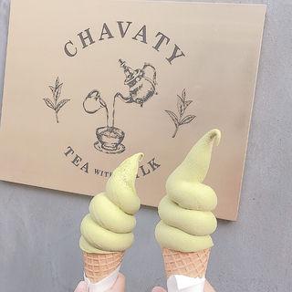 ティーソフトクリーム抹茶(チャバティ (CHAVATY))