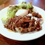 ハラミ丼(並)+半熟卵(かうぼーい 日本橋店 )