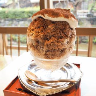 ショコラオランジェかき氷(お茶と酒 たすき )