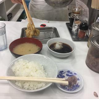 とり天定食(天ぷらのひらお 天神店 )