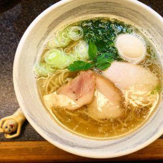 海塩+味玉(満麺の笑み)