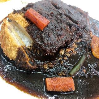 カツカレー インド ブラック 5辛(ニューラホール 竹町店 (La hore))