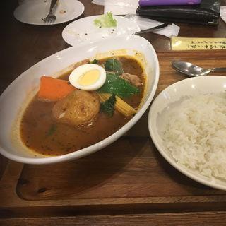 もち豚とほうれん草のスープカレー(心 下北沢店 (カレーショクドウ ココロ))