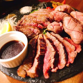 極上3種の肉盛りプレート(牛タン&ワインバル SHITAN'S)