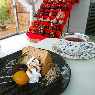 きなこシフォンケーキ(cafeスウィーティー)