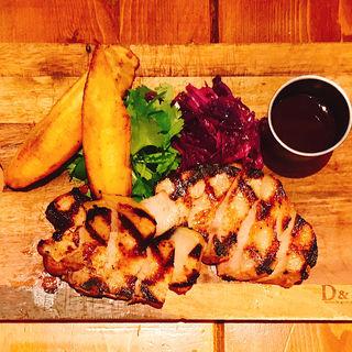 米沢豚のステーキ