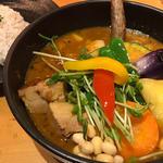 豚角煮と野菜