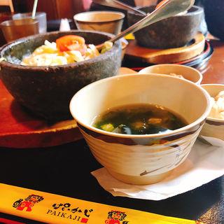 石焼タコライスセット(ぱいかじ 新宿新南口店 )
