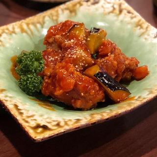 鶏チリ(はかたきねやうどん原田店)