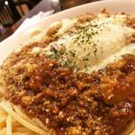 温玉のせミートソーススパゲティ