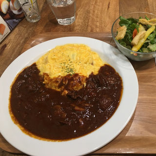 みそデミソースオムライス(はらロール+Cafe)