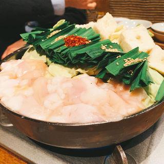 博多もつ鍋 (味噌味 or 醤油味) 1人前(博多もつ鍋 山笠 青山店 (やまかさ))