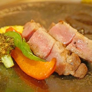 厚切り牛タン(創作天ぷらと炭焼き ワイン はかたあゆむ)