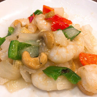 カシューナッツ海老炒め(南粤美食)