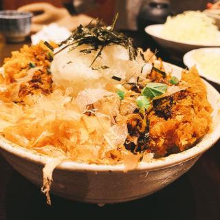 醤油かつ丼ロース「竹」130g味噌汁・キャベツ・お新香付き)(とんかつ武信)
