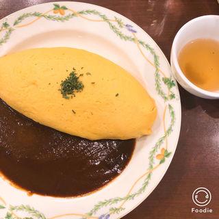 チーズインオムレツデミグラスソース(洋麺屋五右衛門 新宿東口店 )