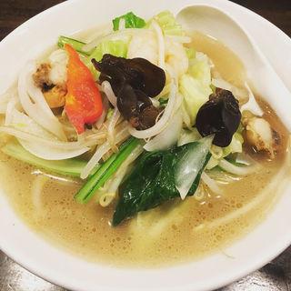 海鮮五目タン麺+餃子(東京餃子軒 大森店 )