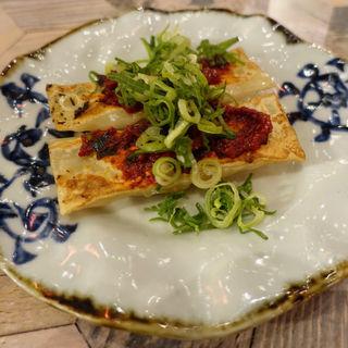 辛味噌のせ棒餃子(サナギ)