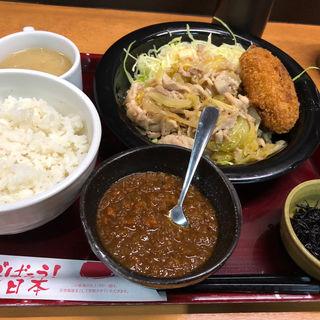 日替わり定食+ちょい足しカレー(茶和 Cha-wa)