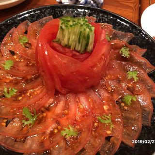 トマト中華サラダ(洋風居酒屋 民酒党 (ようふういざかやみんしゅとう))