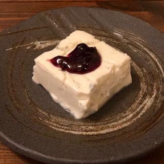 手作りブルーチーズ豆腐(居酒屋 猿楽)