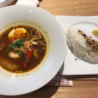 スープカリー 3種シュリンプとベジタブル(おはしカフェ・ガスト 杉並井草店 )