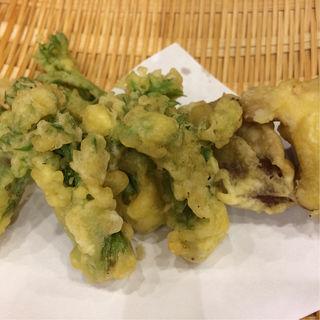 タラの芽とフキノトウとしいたけの天ぷら(玉寿司 )