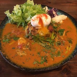 カキと菜花のカレー+ミニキーマ(半熟卵付)(アンディーカリー (ANDY CURRY))