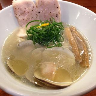 鳥と蛤の塩らぁめん(醤油と貝と麺 そして人と夢 )