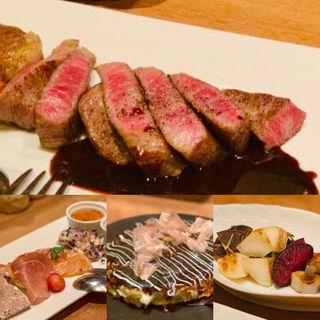 黒毛和牛(A5ランク)のステーキ (鉄板焼き Oribe (おりべ))