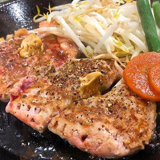サーロインペッパーステーキ&ハンバーグ盛り(各75gずつ)(ゆめタウン下松 ペッパーランチ)