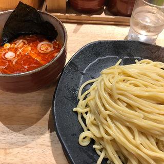 辛味つけ麺+辛味MAX(つけ麺屋 やすべえ 渋谷店 )