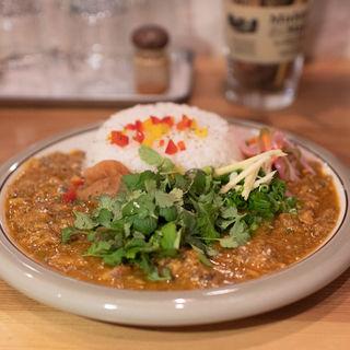 鯖のキーマカレー+オーガニックパクチー(spiceスエヒロ (スパイススエヒロ))
