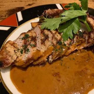 骨付きイベリコ豚のグリルバーニャカウダソース