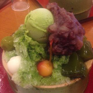 抹茶パフェ(嵐山さくら餅 稲 (あらしやまさくらもち いね))