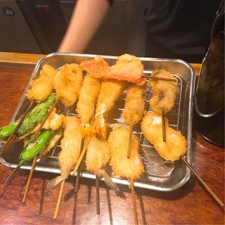 串カツ盛合せ6本(串かつ 七福神 )