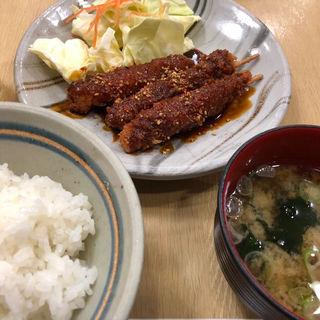 ヒレ串カツ定食(矢場とん 名古屋駅エスカ店 (やばとん))