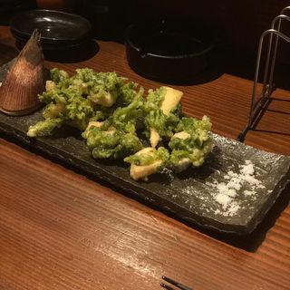 たけのこの天ぷら(ダイニングモア月灯)