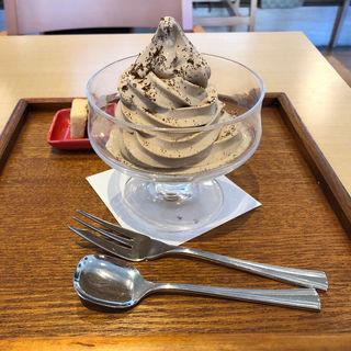 カフェオレソフトクリーム(小川珈琲 たまプラーザ店)