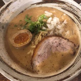 濃厚鶏だくラーメン(大杉製麺)
