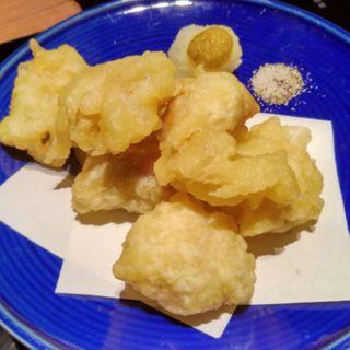 モツの天ぷら(博多もつ鍋 前田屋 総本店)