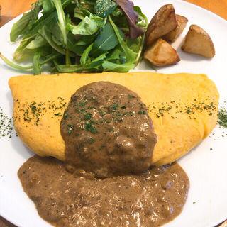 ボルチーニ茸のソースのオムレツ(パンケーキリストランテ)