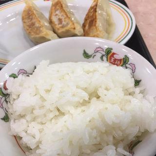 ラーメンセットの餃子(3ケ)ライス(小)