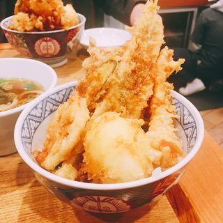 特製天丼+うどん(本町製麺所 天)
