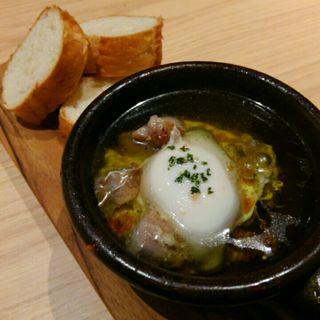 京赤地鶏と玉子のアヒージョ(KOKORO29)