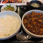 麻婆豆腐定食 ( 麻婆大盛  5カラ )